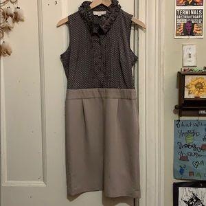 Sleeveless LOFT ruffled neck dress